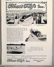 Correct Craft Sedan Cruiser Boat PRINT AD - 1948 ~~ Dart