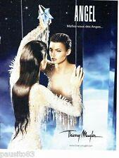 PUBLICITE ADVERTISING 126  2006   Angel  parfum Thierry Mugler Linda Evangelista
