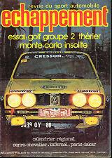 revue automobile: Echappement: N°125 mars 1979