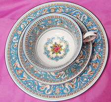 Wedgwood Florentine Turquoise W2714 - Tea Cup, Saucer, Salad Plate Set [S6445]