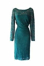 Ralph Lauren Lace Long Sleeves Stretch Elegant Party Occasion Dress Green 6