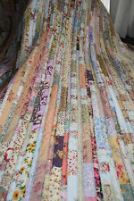 "NEW - Hand Made Quilt ""SHABBY CHIC STRIPPY"" Design by Quilt-Addicts 78"" x 79"""