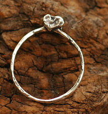 Heart Adorned Charm Holder in Sterling Silver -45