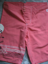 NEW ANIMAL GIRL'S BOARD SHORTS BOARDIES CORAL PINK SIZE LARGE 13 - 14 YEARS