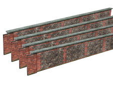 8ft STONE & BRICK WALL CARD KIT- N GAUGE / 2MM SCALE FOR MODEL RAILWAY
