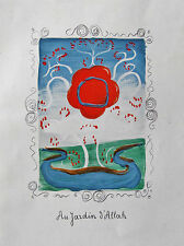 ANDRE DERAIN - IN THE GARDEN OF ALLAH - FOUR (4)  LITHOGRAPHS - VERVE 1939 -