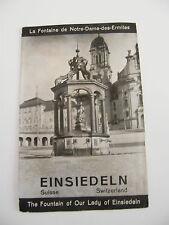 Dépliant Publicitaire Einsiedeln Suisse La fontaine de Notre dame des Ermites 30
