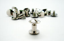 "Chicago Screws Nickel Plated LeatherCraft Belt Screw Post 10/Pack 1/4"" (6mm)"