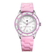 New Tommy Hilfiger Women Pink Silicone Band Sport Watch 39mm 1781185 $115