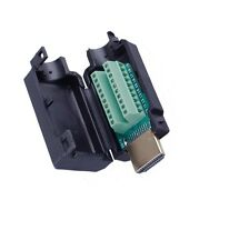 NEW HDMI Male 19-P Plug Breakout Terminals Solderless Connector With Black Cover
