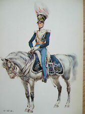 MILITARY POSTCARD- OFFICER OF THE 4TH LIGHT DRAGOONS GREAT BRITAIN 1822