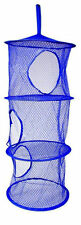 Layer Hanging Hamper Mesh Storage Closet Organizer Kids Garage Laundry Room Blue