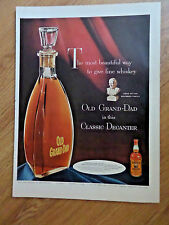 1954 Old Grand-Dad Whiskey Ad  In this Glassic Decanter