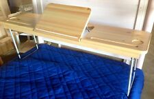 FLEXA OVER BED LAP TABLE W/ TILT TRAY FOR TWIN BED NORDIC PINE - Clear #7213113