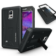 Shockproof Armor Tough hybrid Cover Stand Case Built-in Screen for Galaxy Note 4