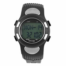 3D Pulse Heart Rate Monitor Calories Counter Pedometer Sport Watch Waterproof CC