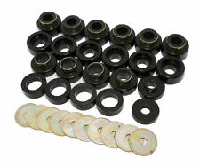 PROTHANE 87-96 Jeep Wrangler YJ Body Mount Bushings Insert Set 22-Piece BLACK