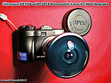 Olympus SP-350 w/ IPIX 180°Fisheye+1gb XD+Lithium Rechg CR-V3