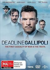 DEADLINE GALLIPOLI (2015 Sam Worthington)  - DVD - UK Compatible