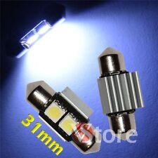 2 LED Siluro 31mm 2 SMD No Errore Lampade Luci BIANCO Interno/Targa Xenon