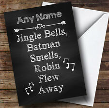 Jingle Bells Batman Smells Personalised Christmas Card