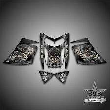 SKI-DOO REV MXZ SNOWMOBILE SLED WRAP GRAPHICS DECAL 03-07 COWBOY OUTLAW BLACK