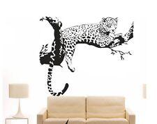Leopard auf Ast Leo Wandtattoo Wallpaper Wand Schmuck 80 cm Wandbild