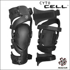 ASTERISK CYTO CELL COPPIA GINOCCHIERE KNEEBRACE MOTO CROSS ENDURO MTB TG XL
