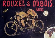 Art Deco Poster Tandem Bicycles French Cycle Bike Print
