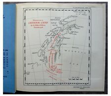 1929 Wordie  SIR HUBERT WILKINS  Discoveries  GRAHAM LAND  Antarctic COLOR MAP 3