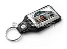 WickedKarz Cartoon Car Subaru Impreza STi 2006+ Silver with gold alloys Key Ring
