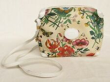 Vintage 1970s GUCCI Purse Botanical Print Small Shoulder Bag Cross-Body Floral