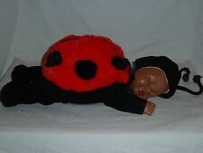 "ANN GEDDES 1997 LADY BUG 16"" Baby doll, Dark Skin"