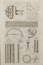 1786 Antique Georgian Print, Copper Plate Engraving, Surveying, Levels (3)