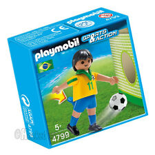 PLAYMOBIL 4799 Soccer / Football Player Brazil - Sports & Action Figure
