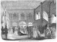 RUSSIA Imperial Family Going to Mass in Old Chapel of Czars - Antique Print 1856
