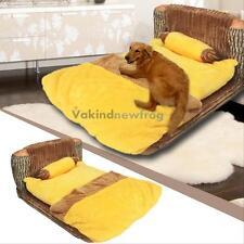 1 Set Of Soft Plush Pet Dog Cat Bed Warm Mat Pad Cushion Luxury Dog Kennel Nest
