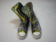 Mens 4 Womens 6 Converse All Star Yellow Govna Animal Print x-Hi Boot Fold over
