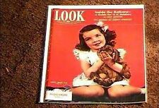 LOOK MAGAZINE 1943 JUNE 15  FINE+ FILE COPY SWEET COVER GIRL HUMPHREY BOGART