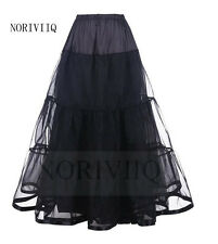 NORIVIIQ Long Petticoat Black Rockabilly Crinoline Underskirt Skirt Slips USA