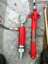 20 Ton Hydraulic Cylinder for shop press with manometer & 20 Ton hand pump