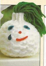 Crochet Pattern ~ Onion Head Kids Toy Food ~ Instructions