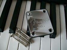 neck plate Fender plaque de manche telecaster, stratocaster, basse ..avec vis!!