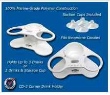 Deep Blue Marine Two Cup Holder-Corner-Storage- Boat, Pontoon, Lake, Party - CD3
