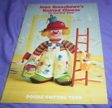 "JEAN GREENHOWE'S ""KNITTED CLOWNS THE RED NOSE GANG !"" KNITTING PATTERN BOOK"
