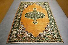 Vintage Oushak Anatolian Handmade Orange Color Madallion Pure Wool Persian Rug