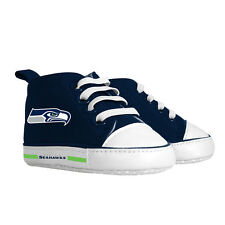 Seattle Seahawks Pre Walkers Hightop Shoes Sneakers 0-6 Months Baby Fanatic NFL