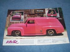 """1956 Ford F-100 Custom Panel Delivery Vintage Article """"In the Pink"""""""