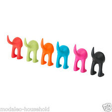 IKEA BASTIS Dog Tail Safe Rubber Colourful Wall Lead Hook SOFT RUBBER HOOK-B111