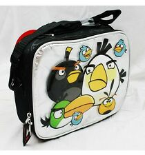 Angry Birds Insulated Lunch Box Bag- Black with Full Characters Rovio Flying Pig